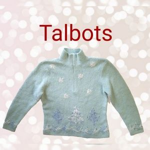 Talbots Embroidered Sweater